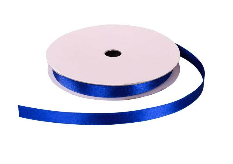 Satinband mit Webkante - 6 mm, blau