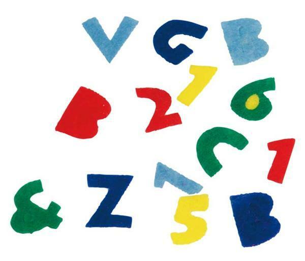Filzstanzteile, Buchstaben & Zahlen