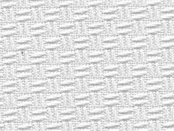 Linnen gerstekorrel - 165 cm, wit