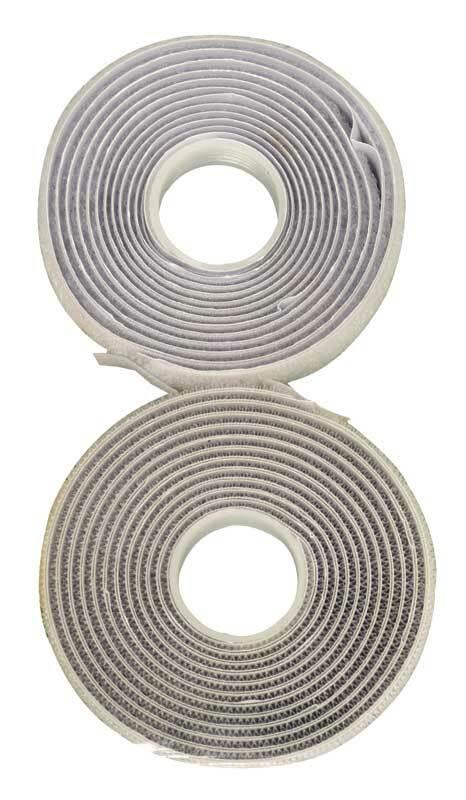 Ruban Velcro - auto-adhésif, blanc