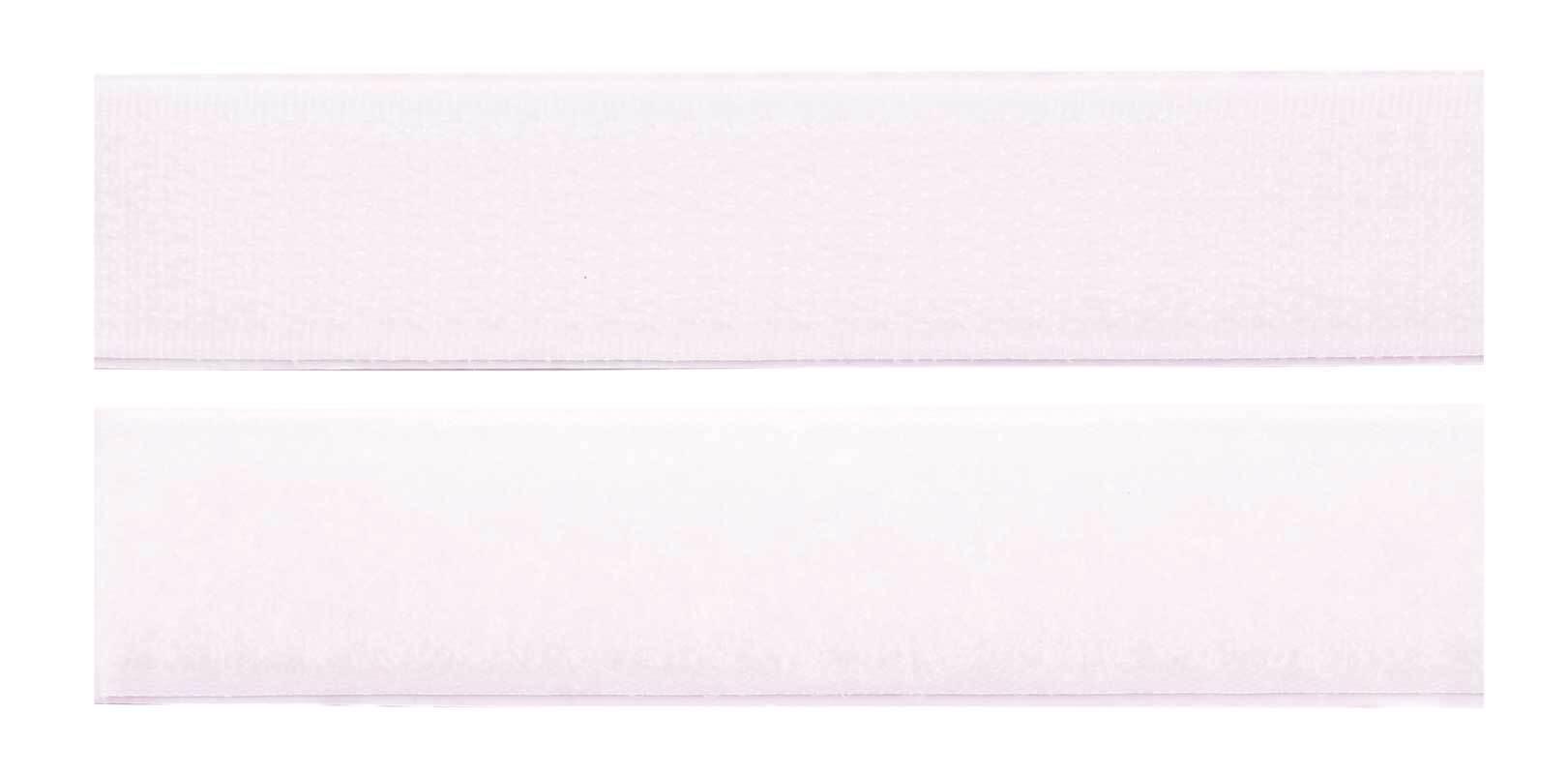 Klittenband - zelfklevend, wit