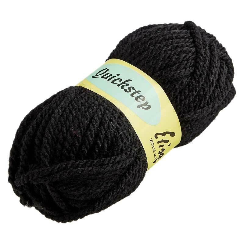 Wolle Quickstep - 50 g, schwarz