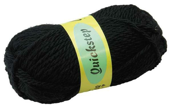 Wol Quickstep - 50 g, zwart