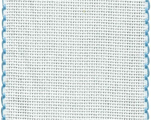 Aida borduurband - 105 mm, blauw