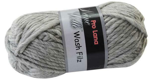 Filzwolle - 50 g, hellgrau