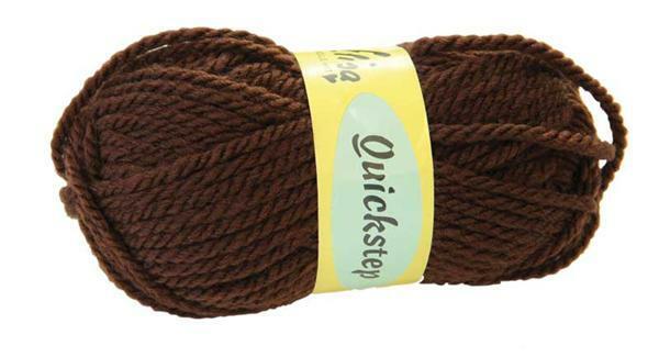 Wolle Quickstep - 50 g, braun