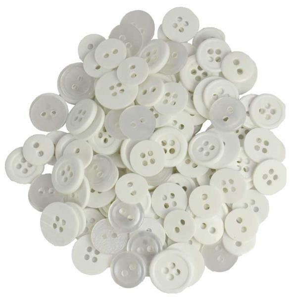 Boutons - Ø 10 - 15 mm, blanc