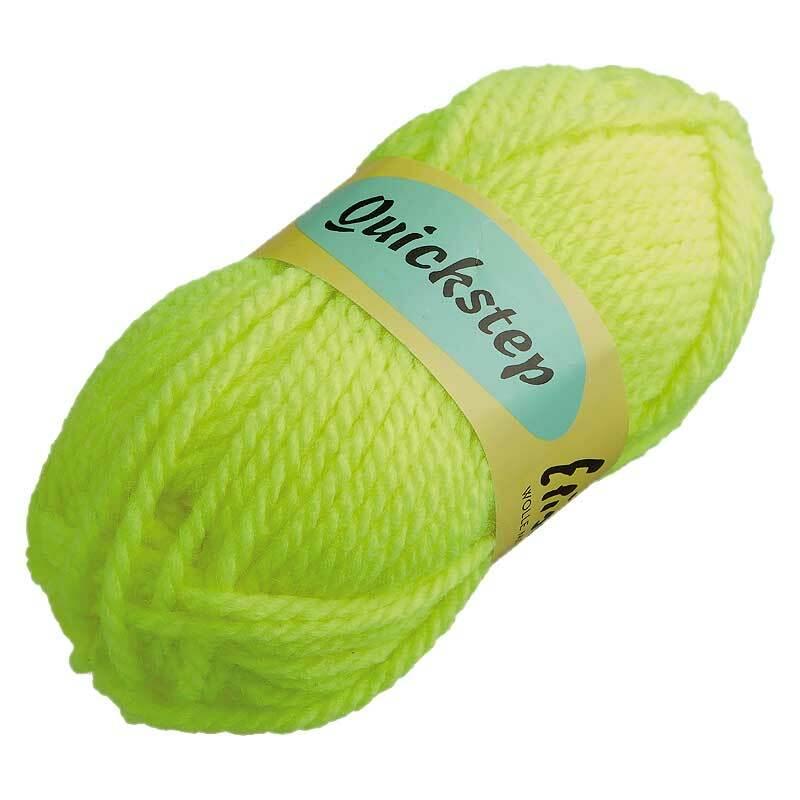 Wolle Quickstep - 50 g, neongelb