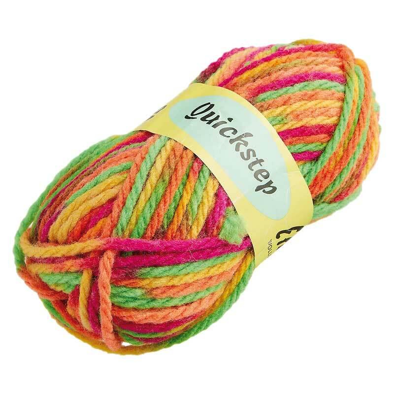 Wol Quickstep - 50 g, kleurenmix neon