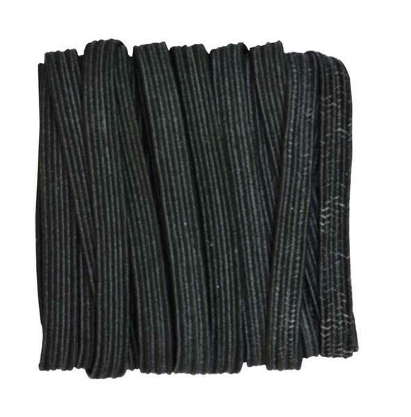 Elastische band standaard - 5 mm, zwart, 5 m