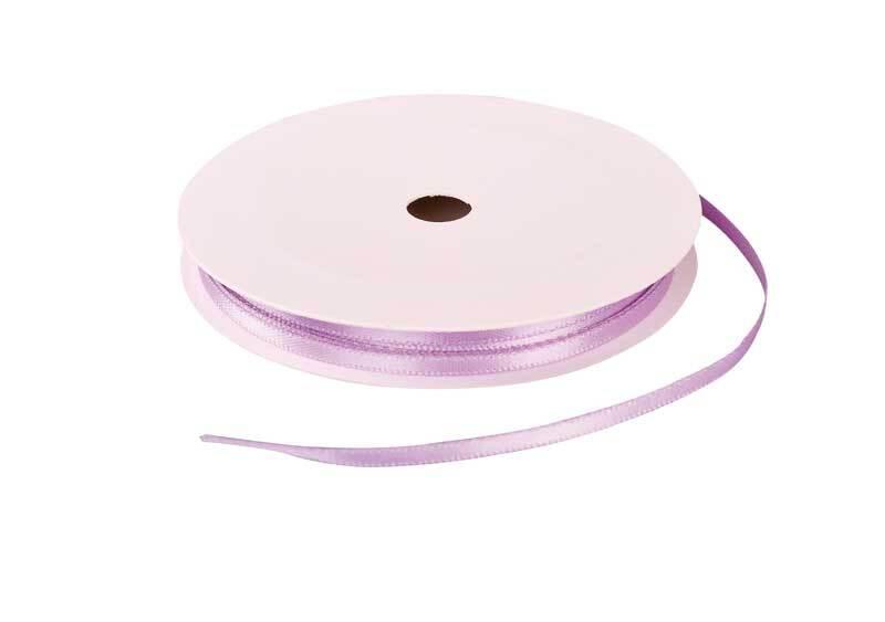 Rubans satin avec lisière - 3 mm, lilas