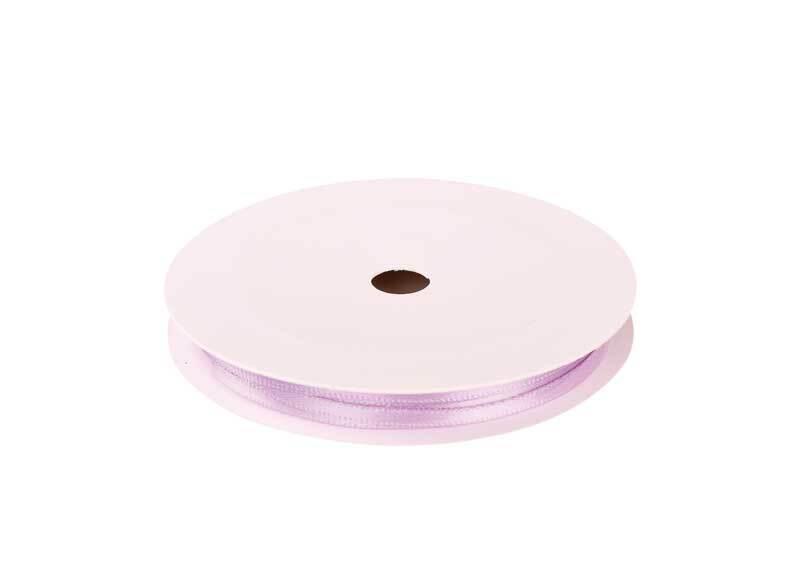 Satinband mit Webkante - 3 mm, flieder