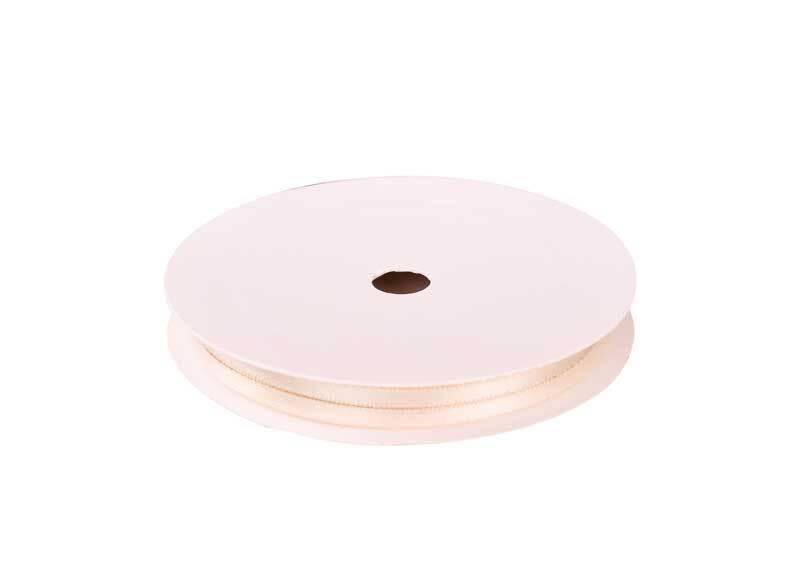 Rubans satin avec lisière - 3 mm, ivoire