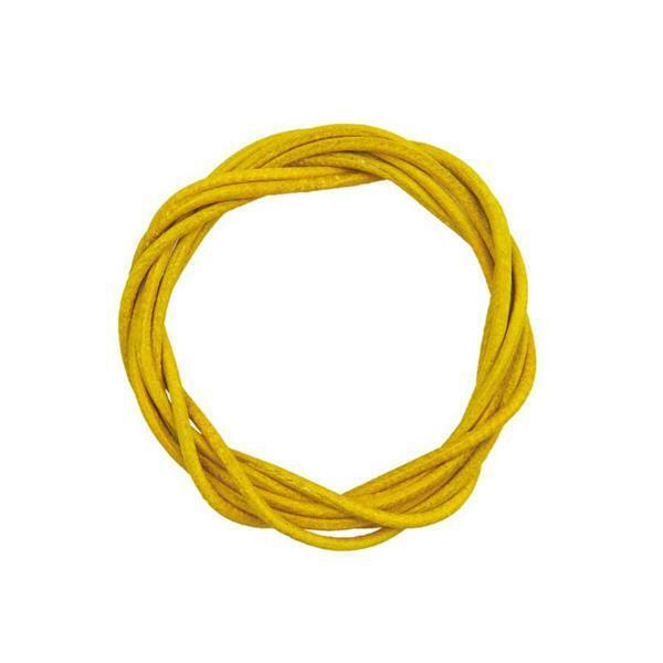 Lederriemen rund - ca. Ø 1,5 mm, gelb