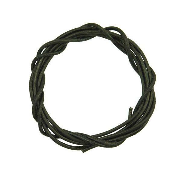 Lederriemen rund - ca. Ø 1,5 mm, schwarz