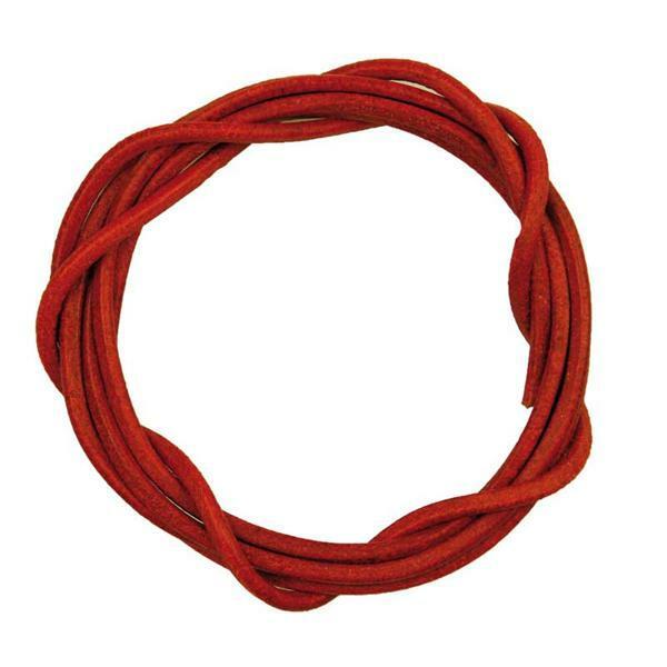 Ronde leren veters - ca. Ø 2 mm, rood