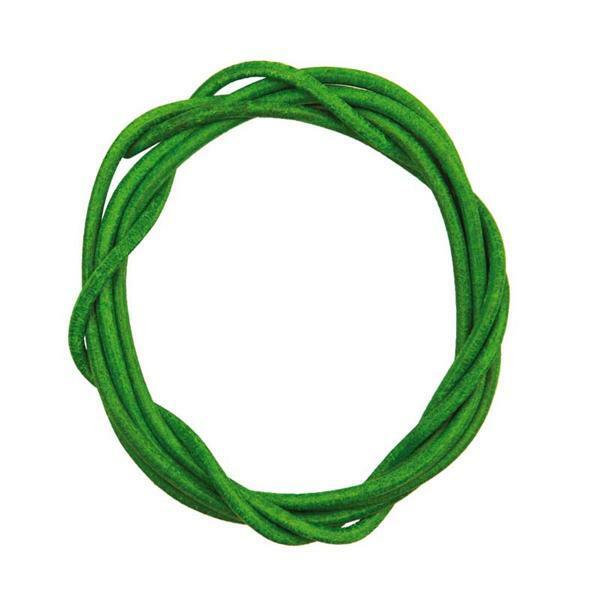 Lederriemen rund - ca. Ø 2 mm, hellgrün