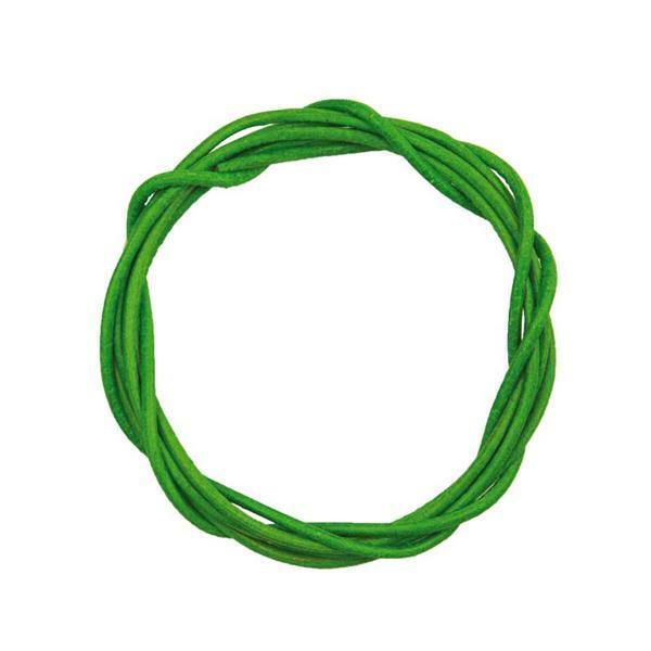 Lanière en cuir ronde - env. Ø 1,5 mm, vert clair