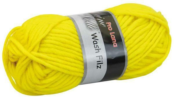 Filzwolle - 50 g, hellgelb