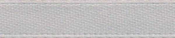 Satijnlint met zelfkant - 6 mm, zilver