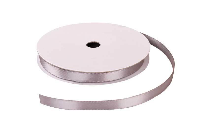 Satinband mit Webkante - 6 mm, silber