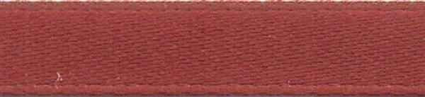 Satijnlint met zelfkant - 6 mm, bruin