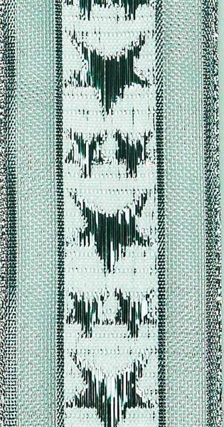 Band Sterne mit Webkante - 38 mm, silber