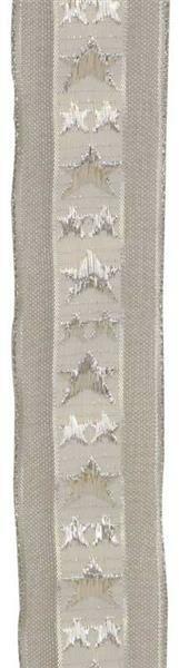 Rubans étoile avec lisière - 38 mm, argent