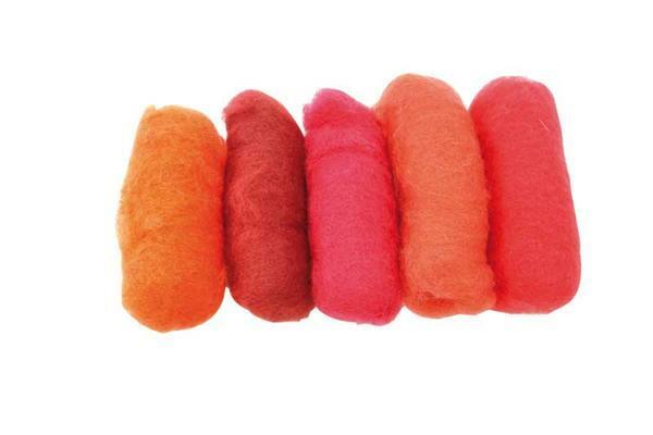 Märchenwolle - Mischpackung 100 g, rot