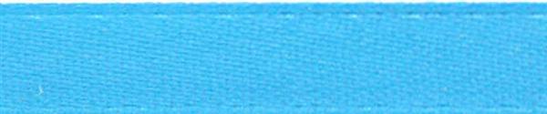 Rubans satin avec lisière - 6 mm, bleu clair