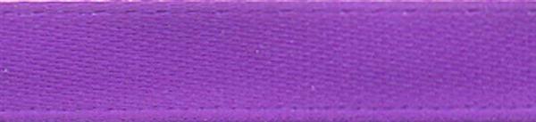 Rubans satin avec lisière - 6 mm, violet