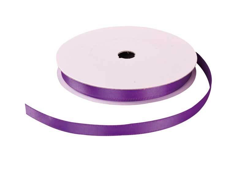 Satinband mit Webkante - 6 mm, violett