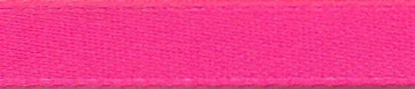 Satijnlint met zelfkant - 6 mm, zuurstokroze