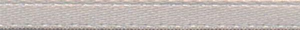 Satinband mit Webkante - 3 mm, silber