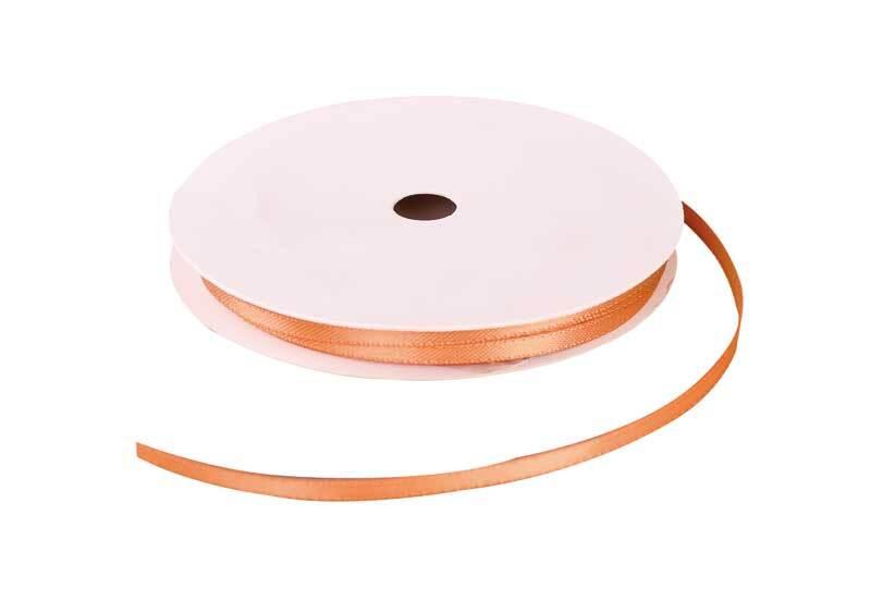 Satinband mit Webkante - 3 mm, gold