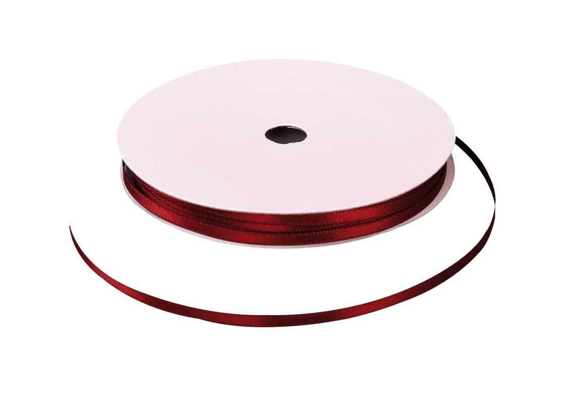 Satinband mit Webkante - 3 mm, braun