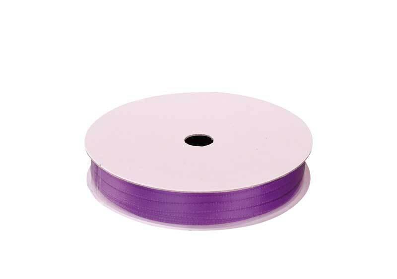 Rubans satin avec lisière - 3 mm, violet