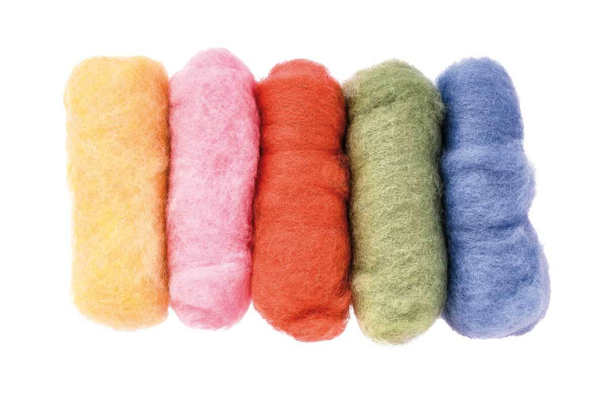 Märchenwolle - Mischpackung 100 g, bunt pastell