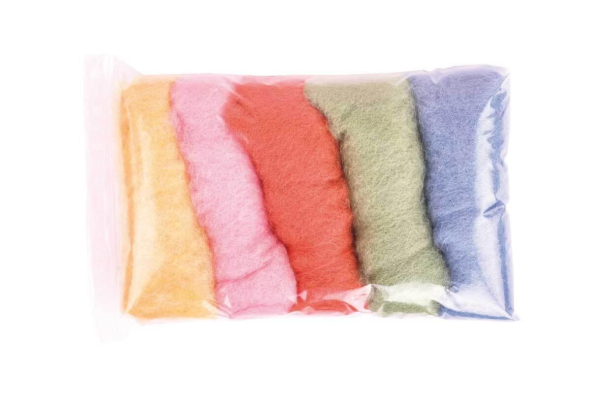 Sprookjeswol - gemengd pakket 100 g, pastel