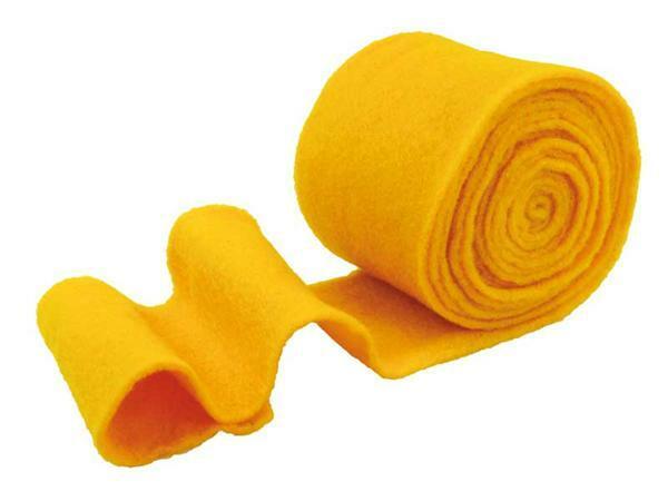 Viltband - 15 cm breed, geel