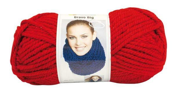 Wolle Bravo Big - 200 g, kirsche