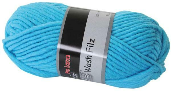 Filzwolle - 50 g, hellblau