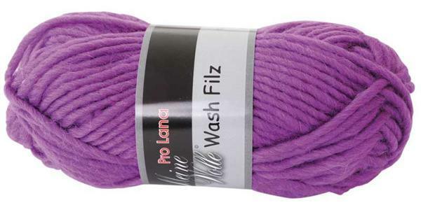 Filzwolle - 50 g, lila