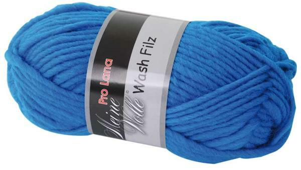 Viltwol - 50 g, midden blauw