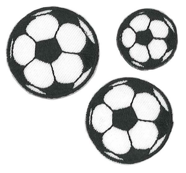 Ecussons - ballons de foot, env. 2,2 - 3,5 cm