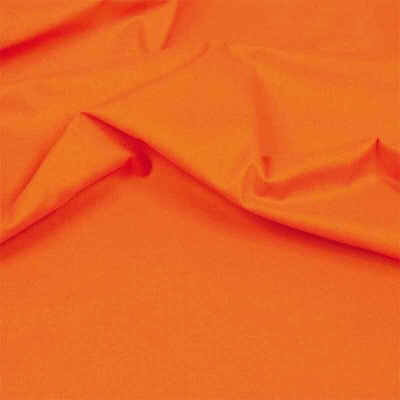 Baumwollstoff - uni, orange