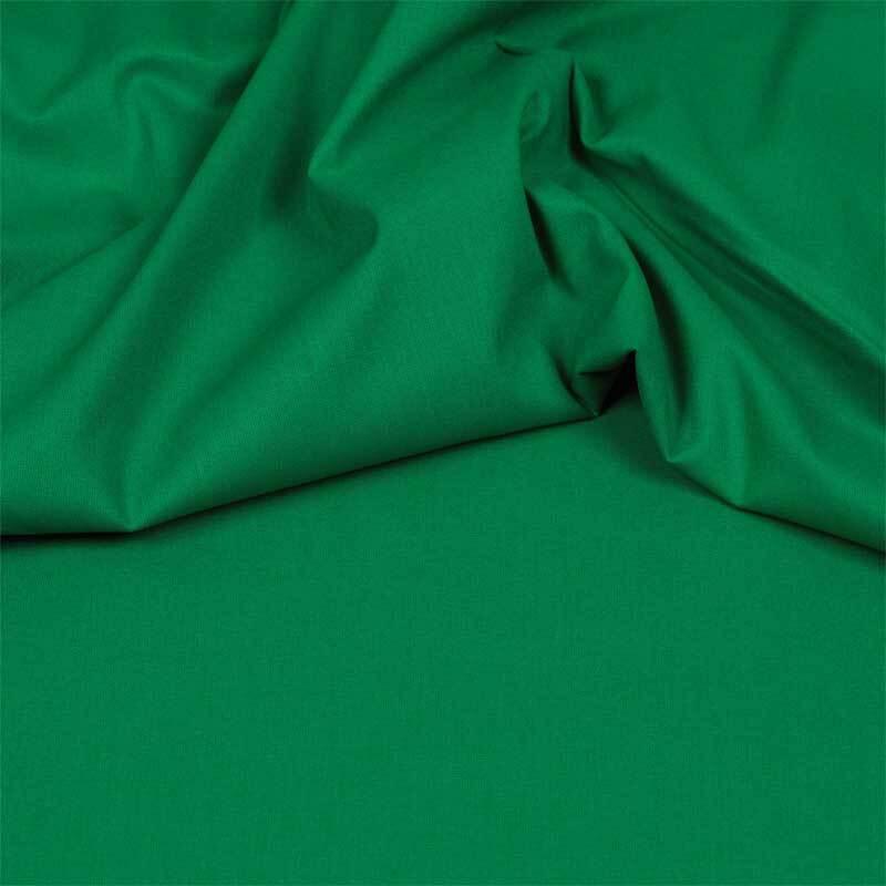 Tissu coton - uni, vert