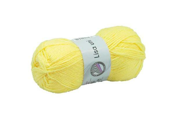Schoolwol Lisa - 50 g, geel