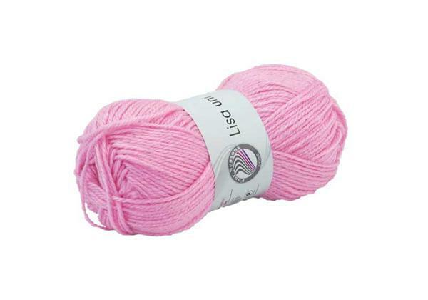 Schulwolle Lisa - 50 g, rosa