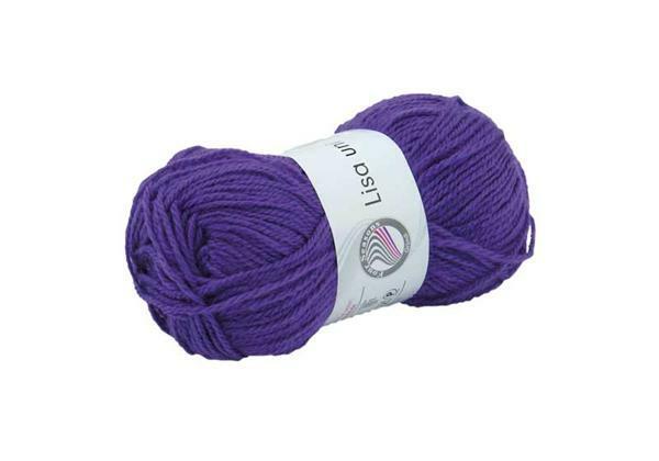 Schulwolle Lisa - 50 g, lila